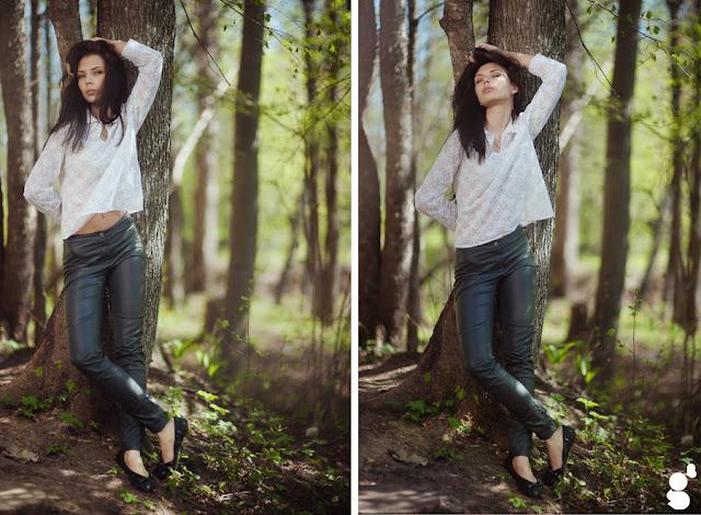 Красивые позы для фотосессии в лесу