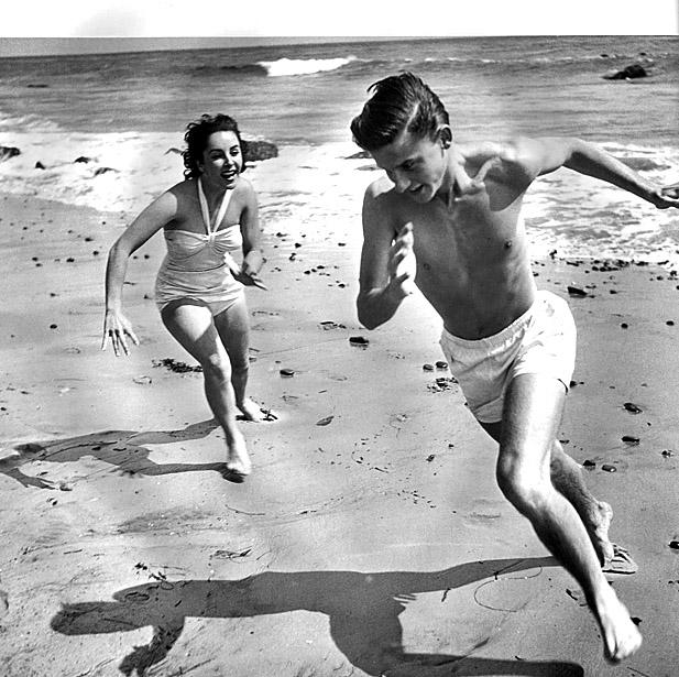 Roddy Mcdowall And Elizabeth Taylor L.A. La Land: F...