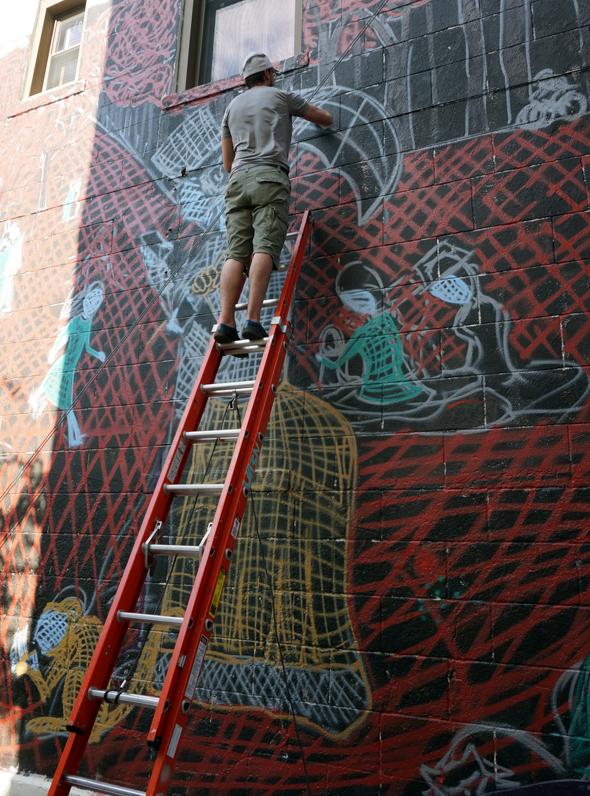 seurat mural street art