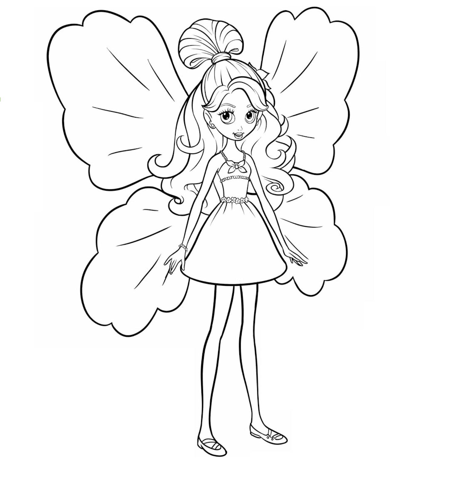 Desenhos Para Colorir Dia a Dia Da Barbie