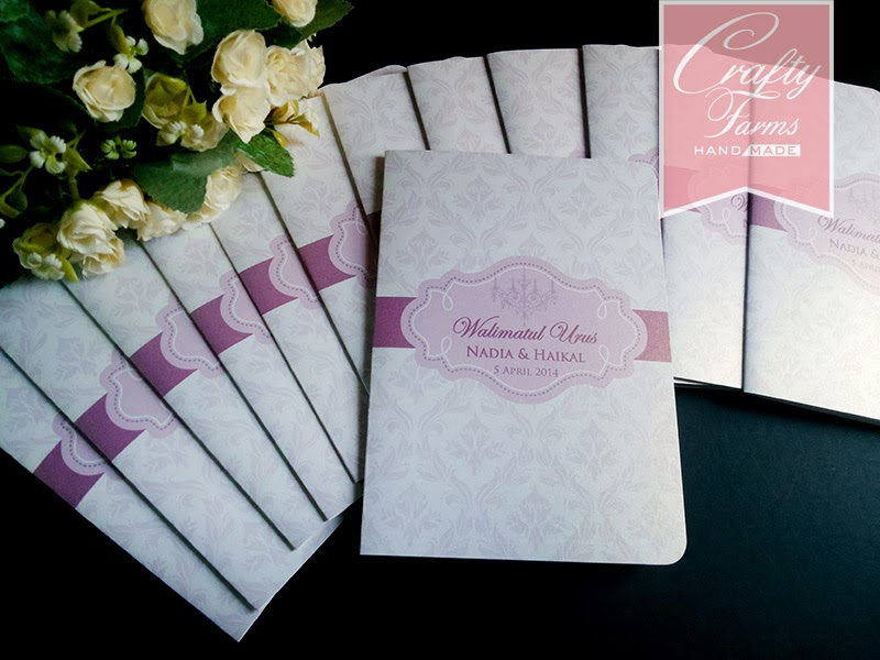 Wedding Card Malaysia | Crafty Farms Handmade : Simple Purple Damask ...