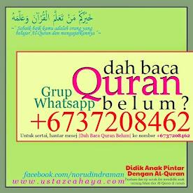 "Grup Whatsapp ""Dah Baca Quran Belum?"""
