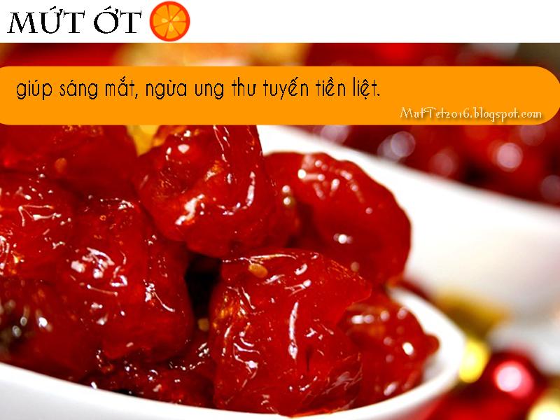 muttet2016 - Mứt cà chua, cà rốt: giúp sáng mắt, ngừa ung thư tuyến tiền liệt.