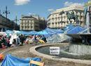 Indignados en la Puerta del Sol de Madrid