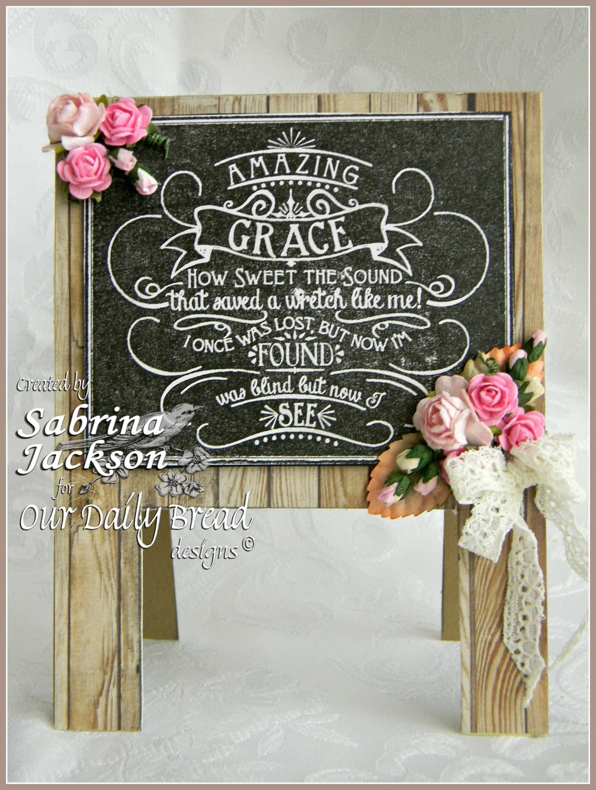 Stamps - Our Daily Bread Designs Chalkboard Amazing Grace