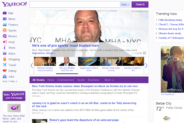 yahoo redesigned