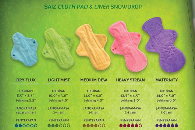 saiz cloth pad snowdrop