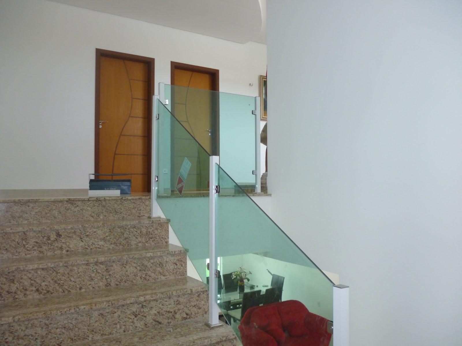 Well-known PP Alumínio : Corrimão para escada alumínio com vidro CV04