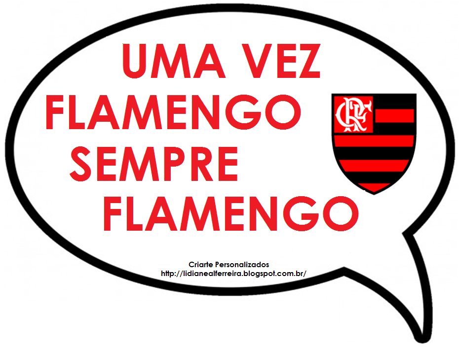 Criarte Plaquinhas Divertidas Tema Flamengo