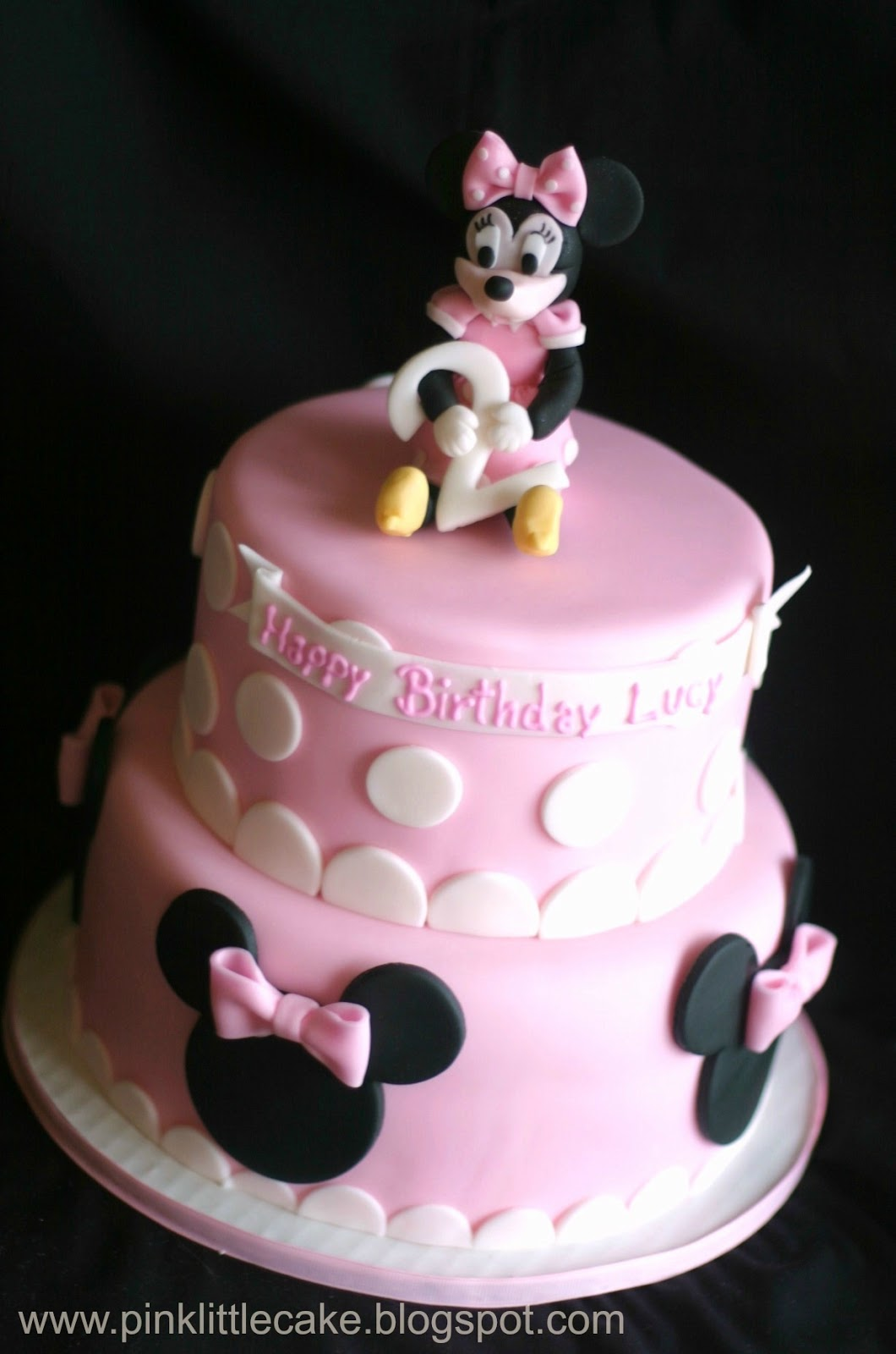 My Pink Little Cake Pink Baby Minnie Mouse Cake for a First