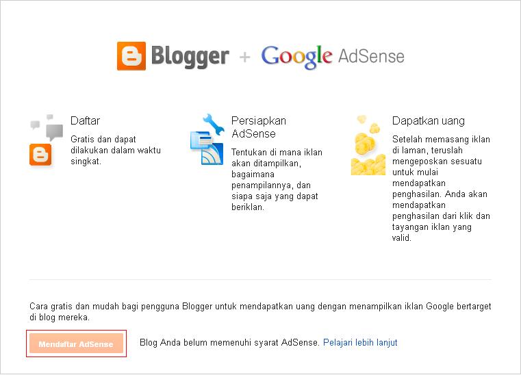 google adsense,adsense,mendaftar ke adsense,diterima oleh adsense,tips agar diterima oleh google adsense,blogger,blog,monetisasi