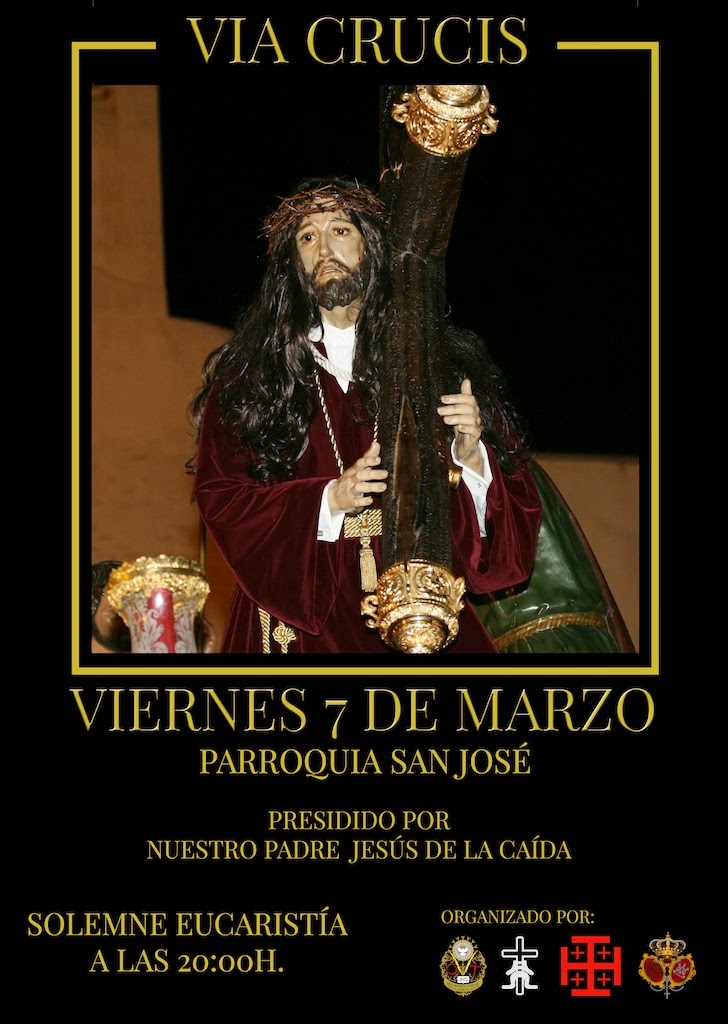 CARTEL VIA CRUCIS JUNTA MAYOR HERMANDADES Y COFRADIAS