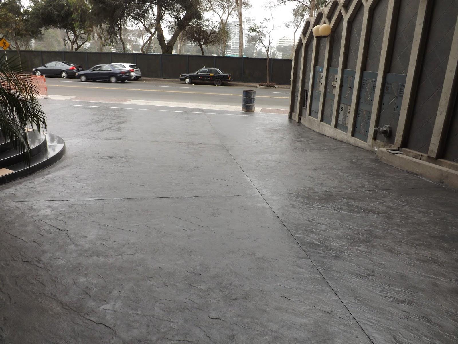 Cristian campos estacionamiento con concreto estampado - Piso de hormigon pulido ...