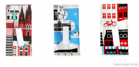 Supertrooper Studio city tea towels
