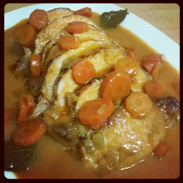 cinta de lomo al horno con salsa de zanahoria cocinar y mas