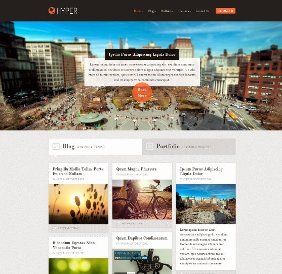 Hyper a Responsive WordPress Theme