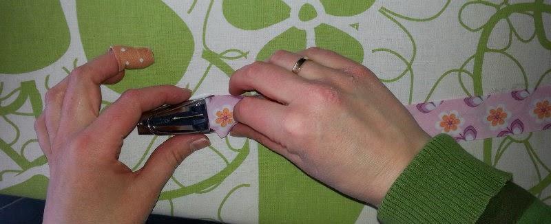Repen stof door de biaisband maker van Prym
