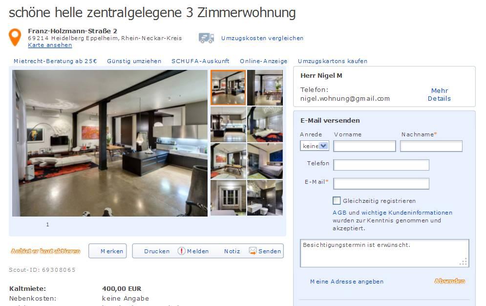 Wohnungsbetrug Blogspot Com Nigel Immobilien Gmail Com