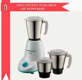 Morphy Richards Superb 3 Jar Mixer Grinder (500 Watt) worth Rs.3595 for Rs.1754 Only with 2 Yr Warranty (Exclusively Available with Pepperfry)