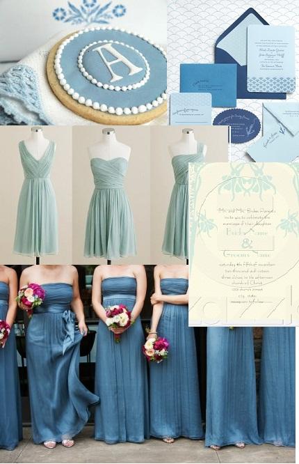 Matrimonio In Azzurro Polvere : Il di bouquet de rêves dusty blue quot azzurro polvere