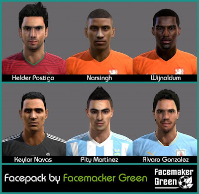 PES2013 New Facepack by Facemaker Green