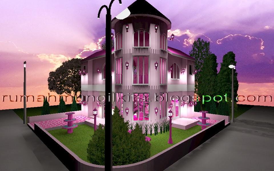 Real Barbie Dream House Castle, angle side