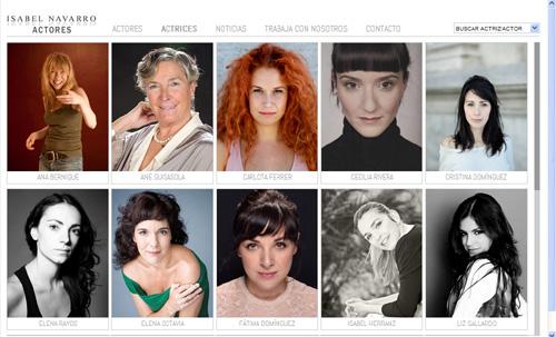 página web de Isabel Navarro Actores: representación artística de actores y actrices