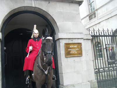 Mounted guard, the Household Calvary Museum, London