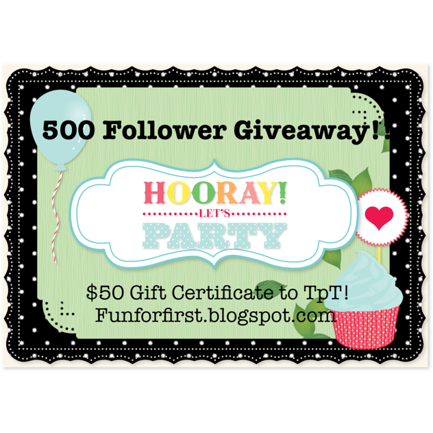 Kikki K Enjoy A 10 Gift Voucher Birthday Email: Fun For First: 500 Follower Giveaway! Yay! TpT
