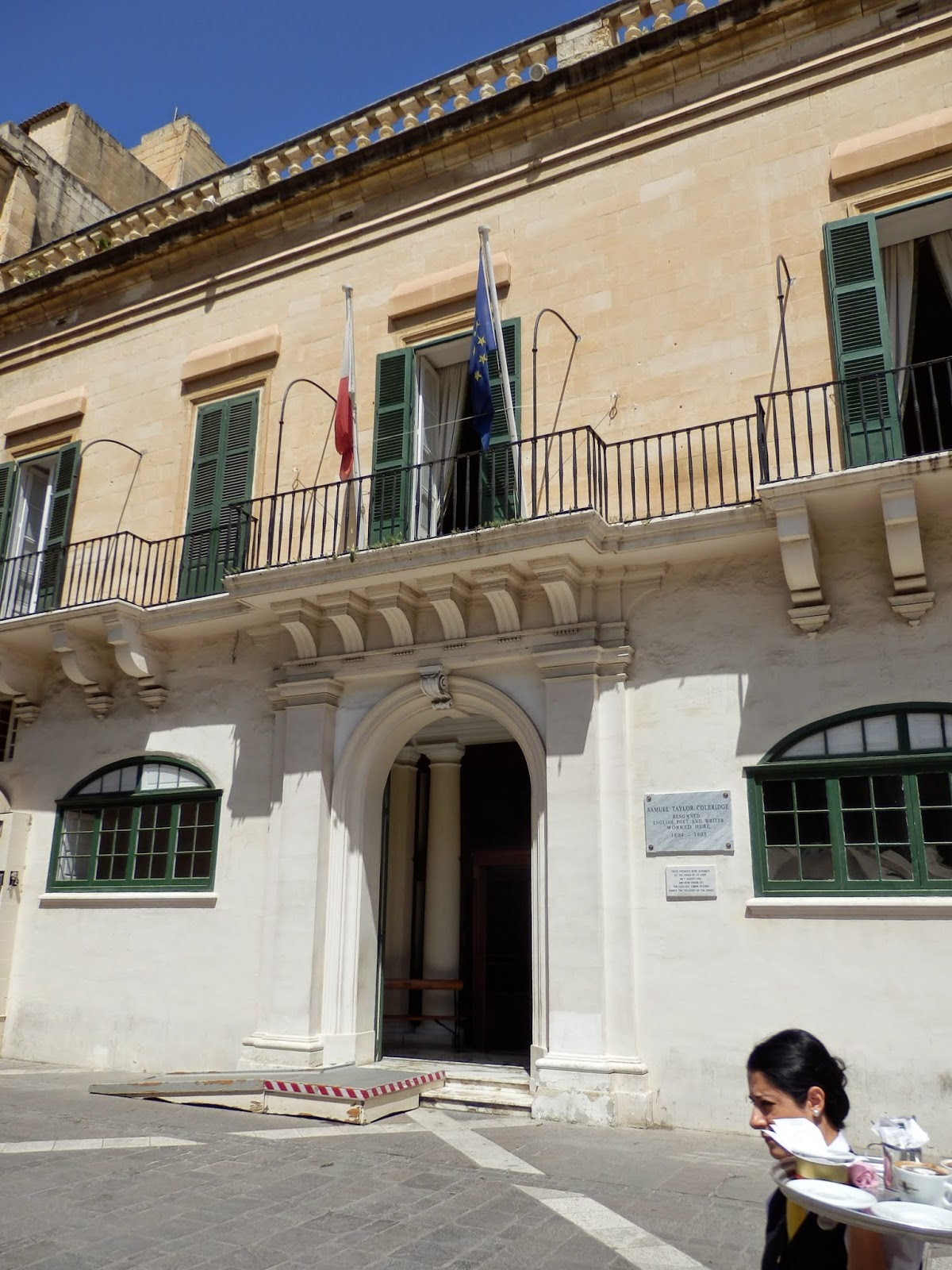 Where Samuel Taylor Coleridge lived in Valletta, Malta