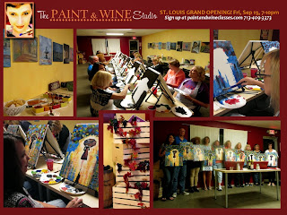 St. Louis & St. Charles Wine & Painting Classes