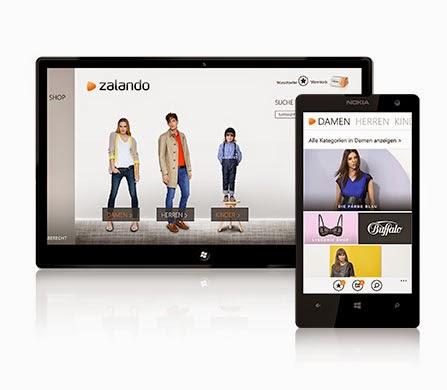 App di Zalando per Windows Phone