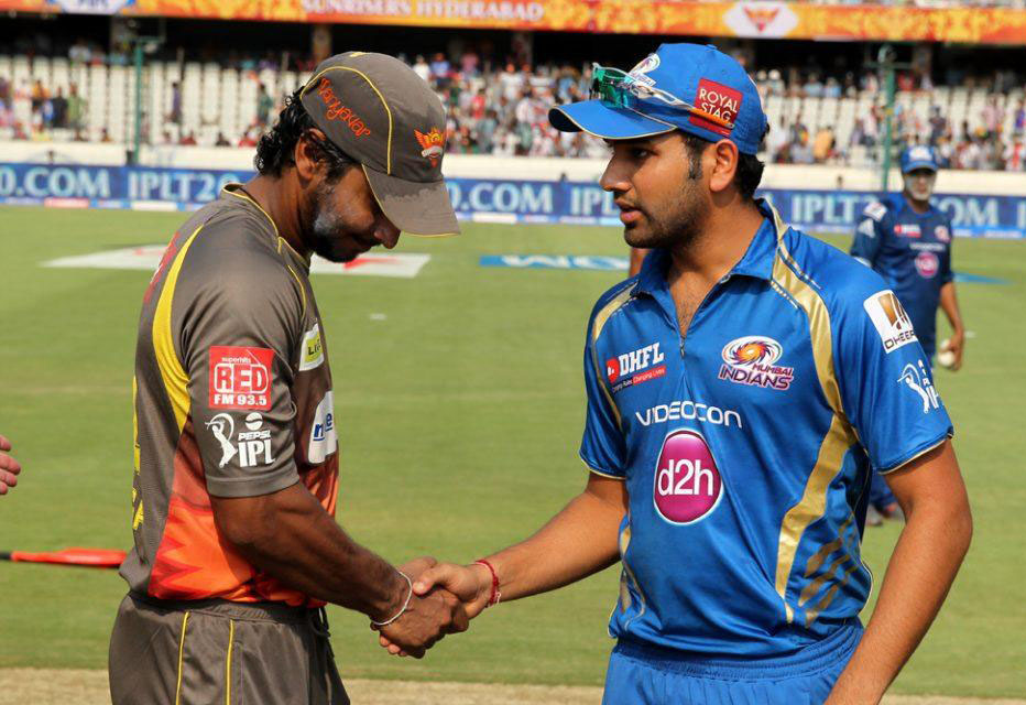 Kumar-Sangakkara-Rohit-Sharma-SRH-vs-MI-IPL-2013