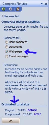 Cara kompres gambar blog
