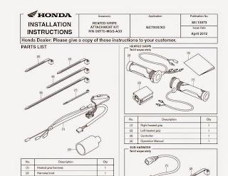 Honda NC 750X DCT Elcik Isıtma Montaj Talimatı