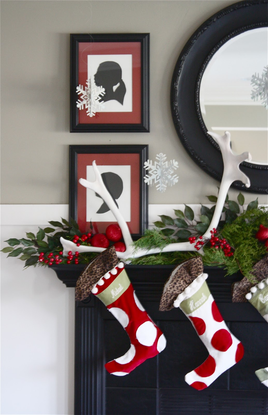 the yellow cape cod holiday home series our christmas mantle here is how it came together