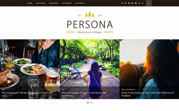 Persona - Clean & Responsive Blogger Template