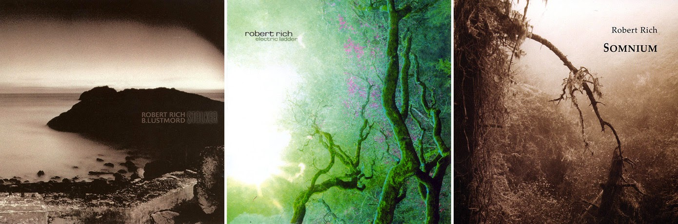 Robert Rich - Stalker (1995), Electric Ladder (2006), Somnium (2001) / source : discogs.com