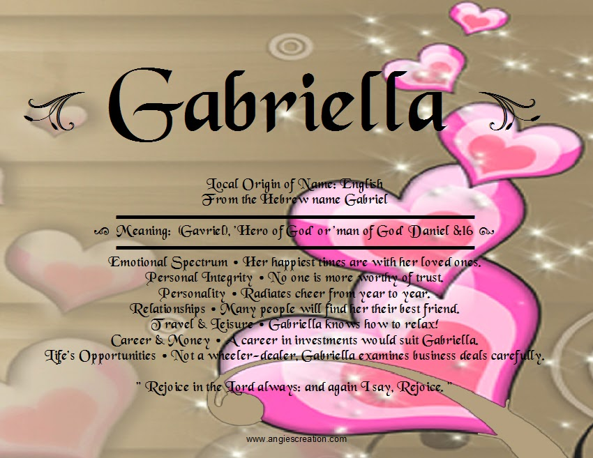 gabriella unique names