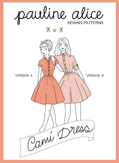 cami dress, sewing pattern, shirt dress, retro, buttons, cuff