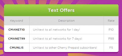 Cherry Prepaid All Networks Promo