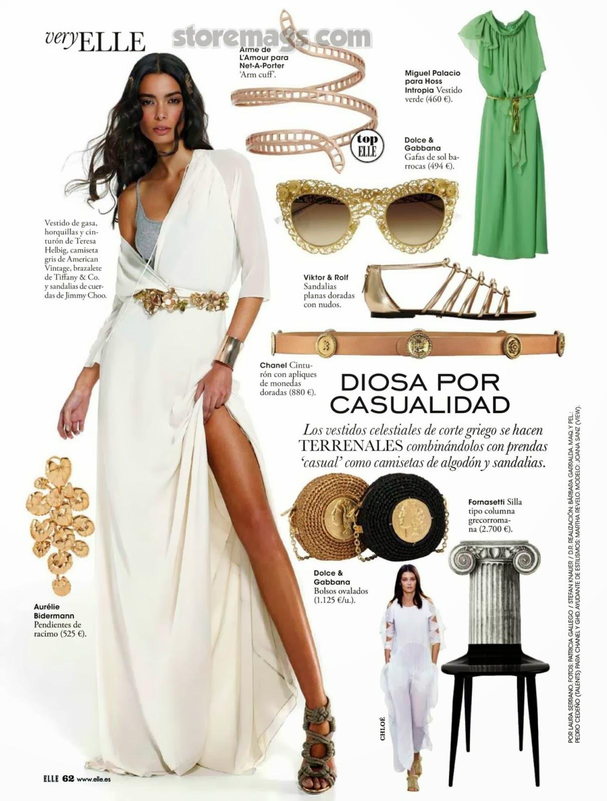 Joana Sanz HQ Pictures Elle Spain Magazine Photoshoot March 2014