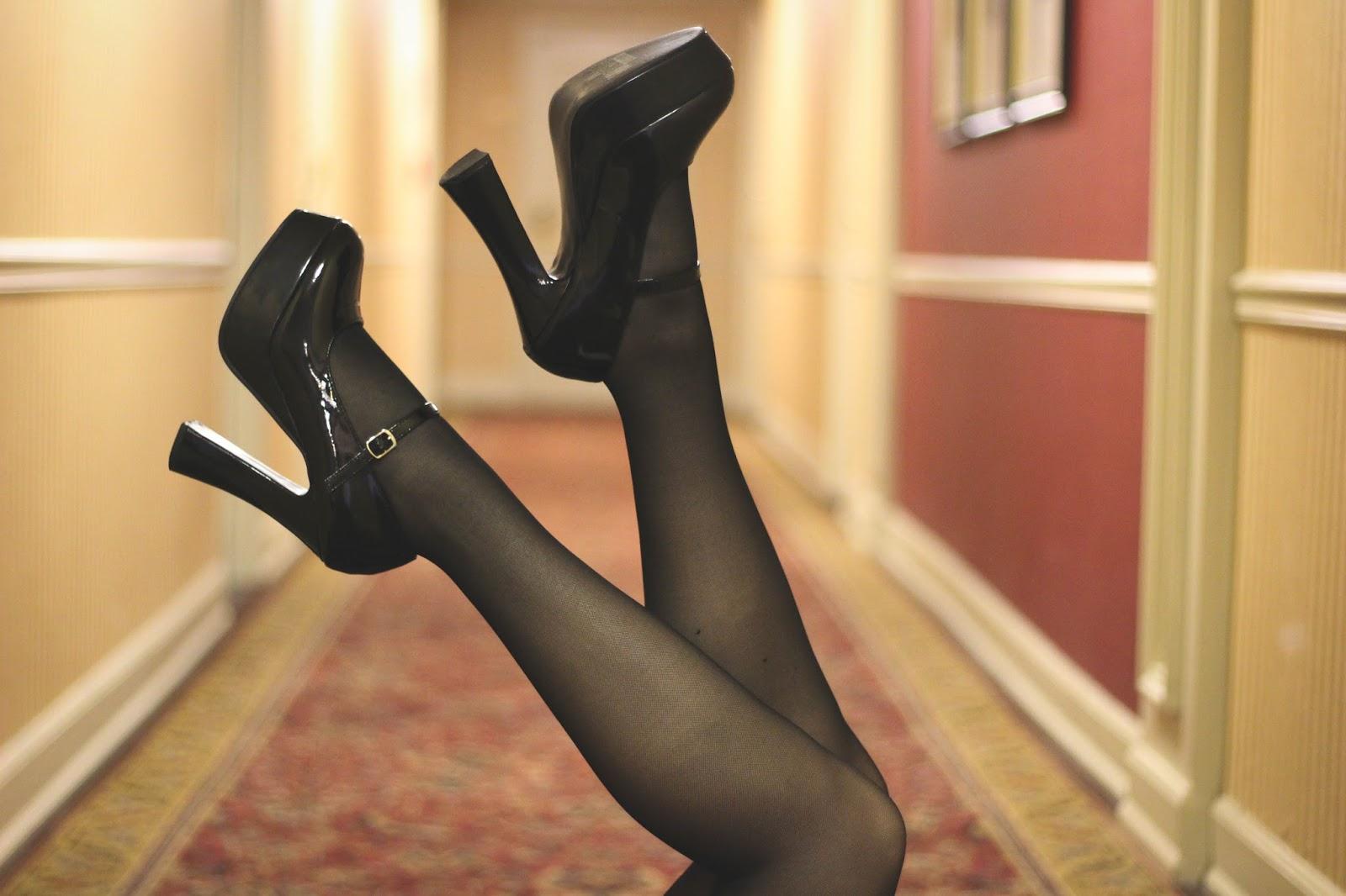 Retro 60's Inspired, Platform Heels Ankle Strap