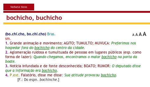 Aulete Digital - bochicho, buchicho