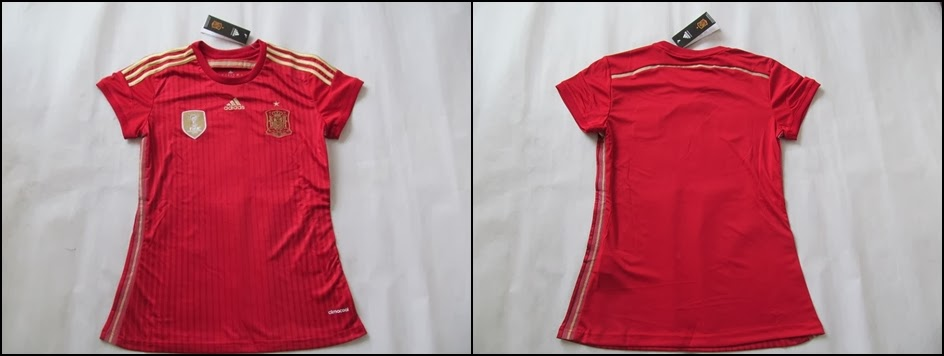 Jersey Bola Spanyol Home Ladies World Cup 2014