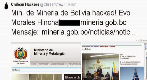 Anbolivia hackean la p gina web del ministerio de miner a for La pagina del ministerio