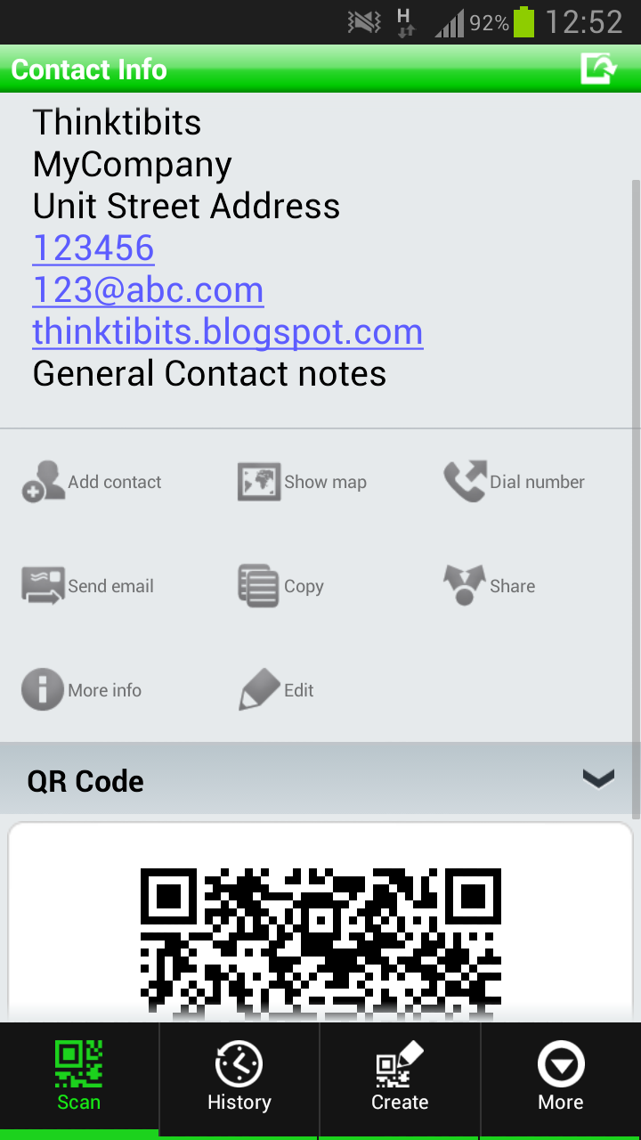 Create contact event based qr code in java thinktibits contact event based qr code generation in java baditri Images