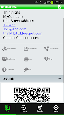Contact event based QR Code generation in Java