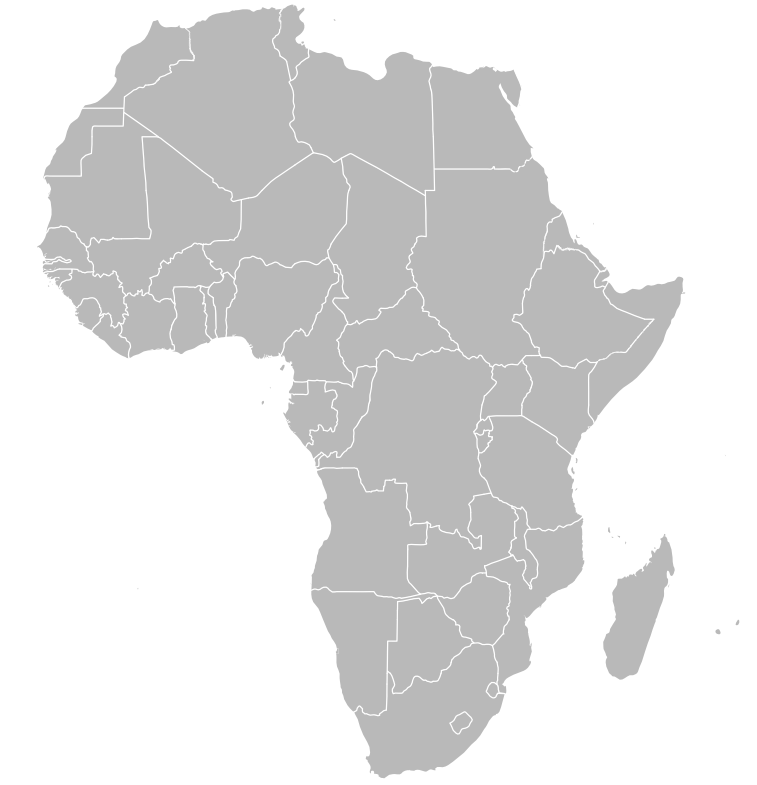 world atlas map of africa. outline map World atlas