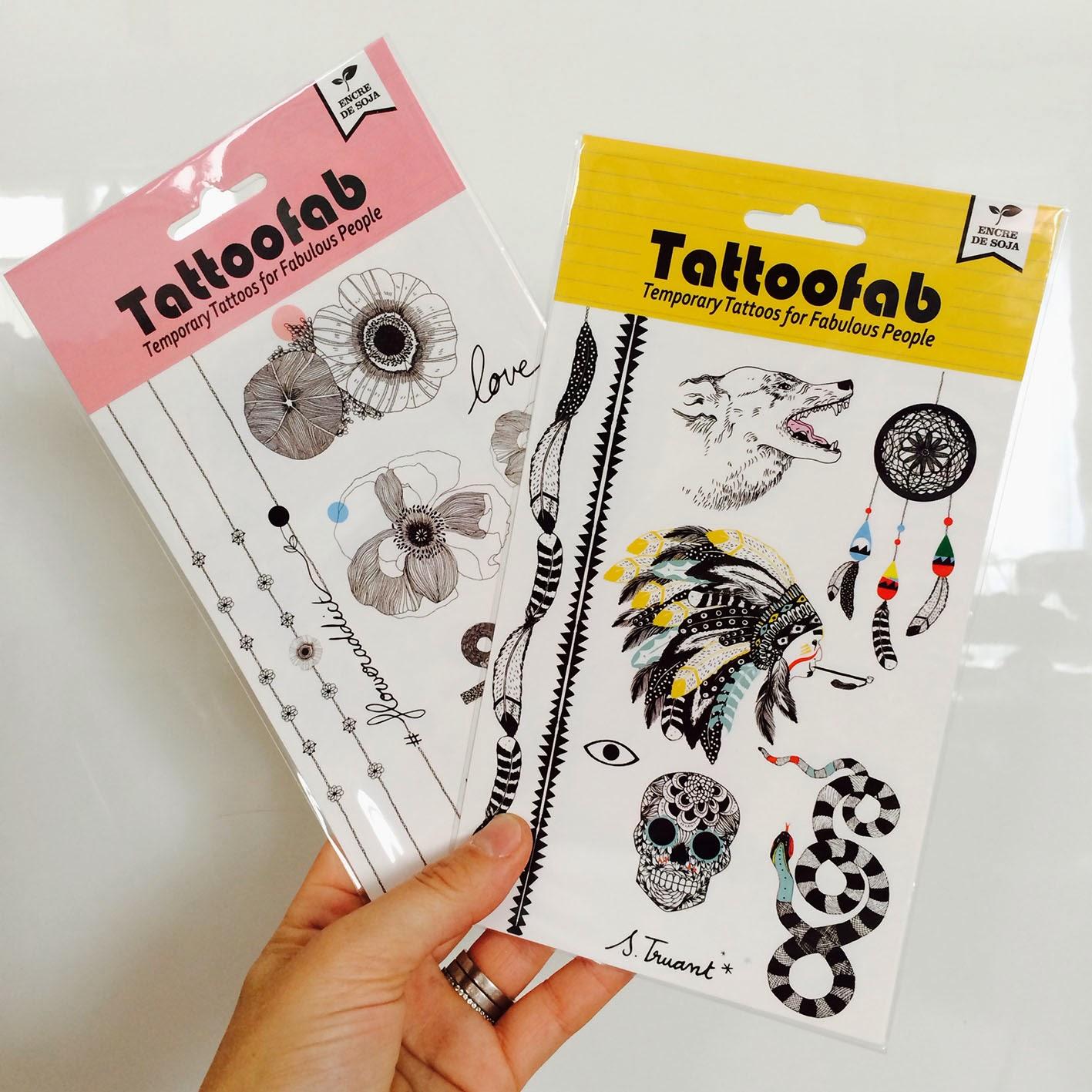 Tatouages temporaires Boutique 102